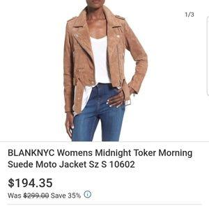 BLANK NYC SUEDE MOTO JACKET/CAMEL